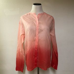 Michael stars Orange Ombre Button Down Shirt Sz  L